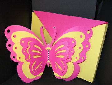 Butterfly Layered Card Template